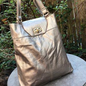 Handbags - Champagne gold tote.